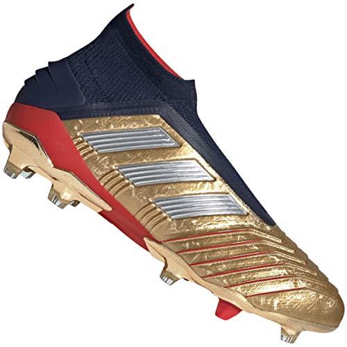 adidas Predator 19+ FG Zapatos de Fútbol Oro, 40 2/3 Hombre