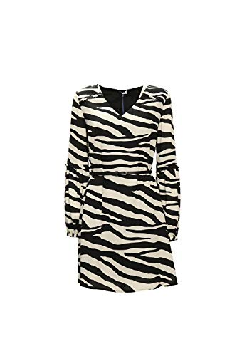 Liu Jo W69063 T5630 Kleid Damen Nero Bianco 40