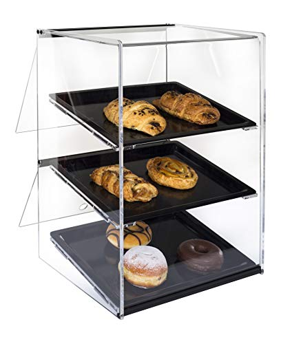 Vetrina dolci da bar porta brioches in plexiglass con vassoi Gastronorm 1/2 in melamina 345 x 308 x 500 mm