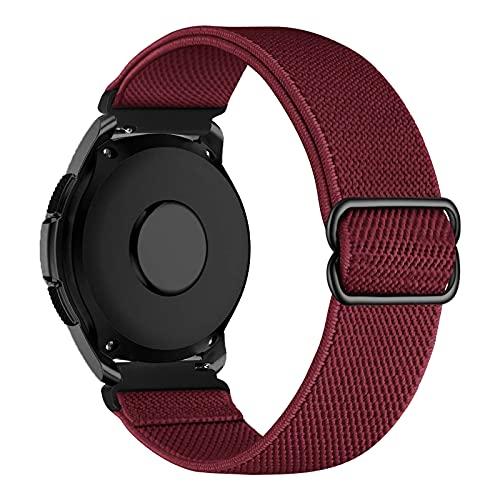 iBazal 20mm Correa Galaxy Watch 3 41mm Nylon Band Trenzada Compatible con Samsung Galaxy Watch Active2 40mm 44mm/Galaxy Watch 42mm Reemplazo para Huawei GT 2 42mm/GTR 42mm/GTS Pulsera Band - Rojo