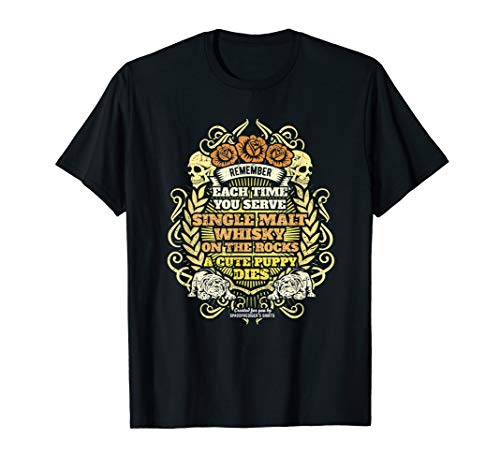 Whisky Design mit Spruch über Single Malt Whisky T-Shirt