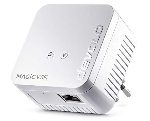 devolo Magic 1 – 1200 WiFi mini Single Adapter: Adaptador WiFi Powerline pequeño, ampliación segura para su red doméstica (1200Mbit/s, 1 x conexión Fast Ethernet LAN, WiFi de malla, G.hn)