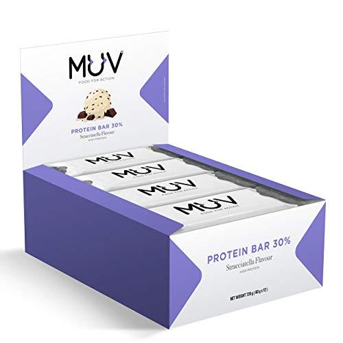 Muv Food For Action - Proteinriegel Geschmacksrichtung Stracciatella 12x60g
