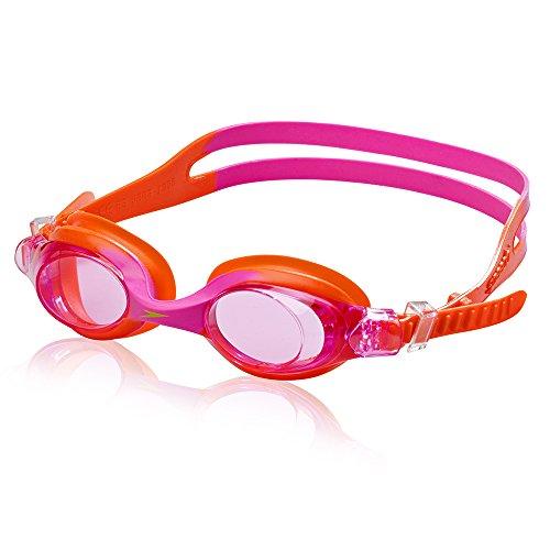 Speedo Unisex-Child Swim Goggles Skoogle Ages 3 - 8, Speedo Orange, One Size