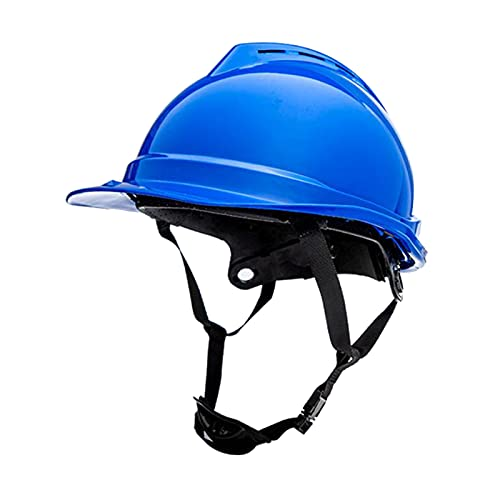 perfeclan Casco de seguridad, casco ajustable, protección para la cabeza, casco de seguridad para constructor de ingenieros de escalada - Azul ⭐