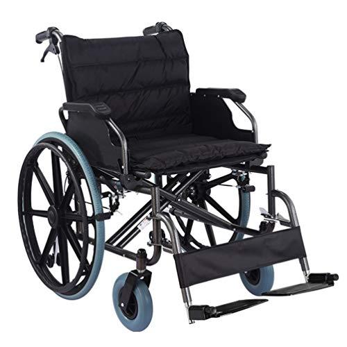 Xink-Wheelchairs Sedia a rotelle Pieghevole E Disabili Walker con Bagagli Bag Black Trasporti e Sedia a rotelle Portatile può sopportare 150kg allargato 56 Centimetri sede