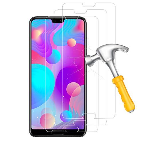 [3 Pièces] Verre Trempé pour Huawei P20 Pro, Film Protection écran - 0,33mm Couverture Complète - sans Bulles d'air - 9H Dureté - Anti Rayures - 9H Glass pour Huawei P20 Pro - Transparent