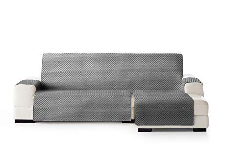 Eysa Oslo Funda, Poliéster, C/6 Gris-Gris, Chaise Longue 240cm. Válido para sofá Desde 250 a 300cm