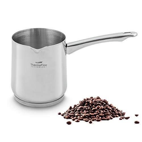 ROSMARINO Cafetière Turque Induction en Acier Inoxydable 700 ml - Convient pour l'Induction,...