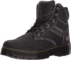 top 10 dr martens hiking boots Dr. Martens Gabion Construction Boots, Black, 12