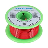 BNTECHGO 22 Gauge PVC 1007 Solid Electric Wire Red 50 ft 22 AWG 1007 Hook Up Tinned Copper Wire