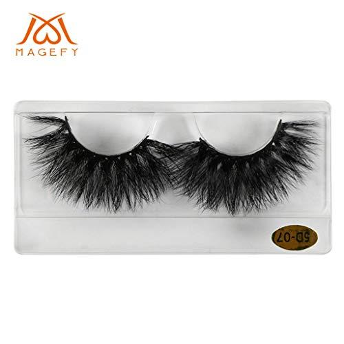 MMLC 1 Pairs 25mm 3D False Eyelash Luxurious Natural Messy Daily Fake Eye Lashes Makeup Eyelashes (A)