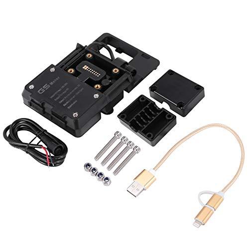 Suading Soporte de NavegacióN USB para TeléFono MóVil, Soporte de Carga USB para Motocicleta para R1200Gs F800Gs ADV F700Gs R1250Gs Crf 1000L F850Gs F750Gs Accesorios para Motocicletas
