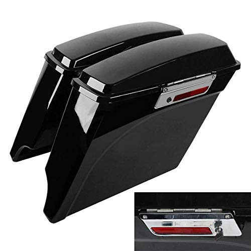 Lowest Prices! 5 Stretched Extended Hard Saddlebags Trunk for Harley Touring Models FLH FLT Road Ki...