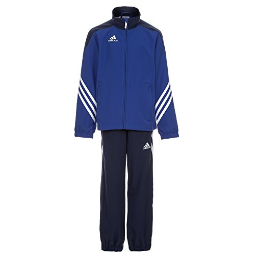 adidas Kinder Trainingsanzug Sereno 14,Top:Cobalt/New Navy/White Bottom:Dark Blue/White,164