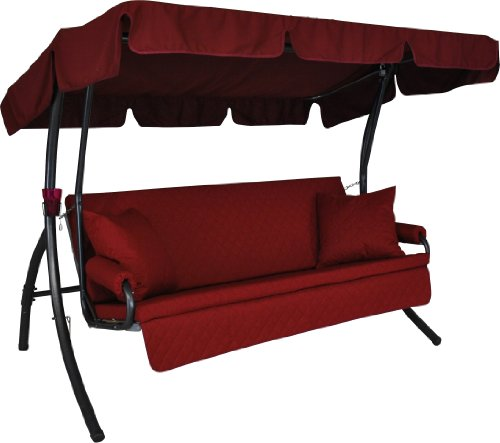 Angerer Trend Joy Hollywoodschaukel Joy, Rot, 3-Sitzer