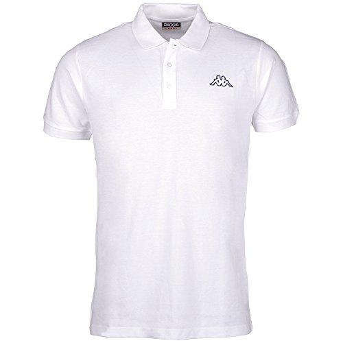 Kappa Herren SAMUL Polo Shirt, 001 White, S