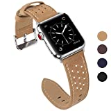 Fullmosa Compatible Bracelet Apple Watch 38mm 40mm(Serie 4) Cuir pour Homme Femme, Breeze pour Bracelet Apple Watch/iWatch 38mm Series 3 2 1 Hermès et Nike+ Edition, Khaki