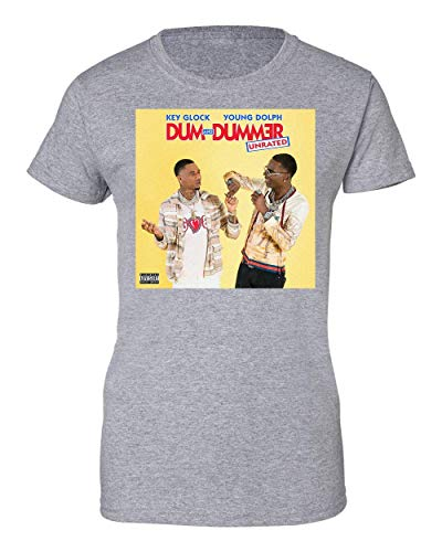 Key Glock Young Dolph Dum and Dummer Damen T-Shirt X-Large