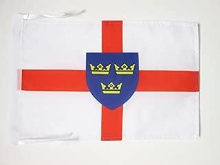AZ FLAG East Anglia Flag 18'' x 12'' Cords - East Anglia - England Small Flags 30 x 45cm - Banner 18x12 in