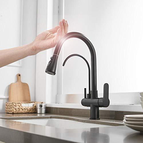 grifo de agua Smart Touch Grifos de cocina Grifo de filtro de agua de cocina Grifo Mezclador de fregadero de tres vías Grifo de cocina frío y caliente torneira NAR-1