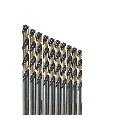 Drill Bit 10PCS 1mm-13mm M35 HSSCO Cobalt Drill Bits HSS Twist 3-Flat Shank Pilot Point Drill Bit-6mm 10pc