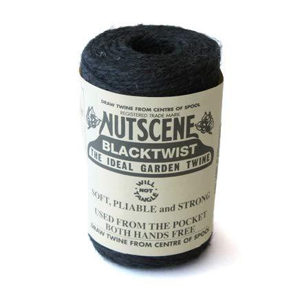 nutscene ナッツシーン 麻ひも・麻紐 スプール クラフト ブラック(黒) 160g 約100m