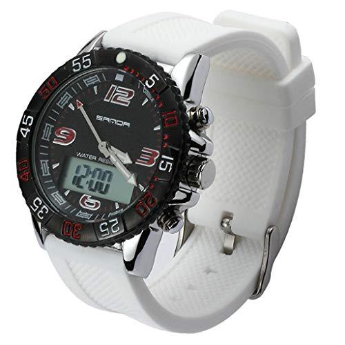 GLEMFOX heren sporthorloge dual display multifunctioneel digitaal horloge LED achtergrondverlichting waterdicht heren militair horloge Riemen. Small #1