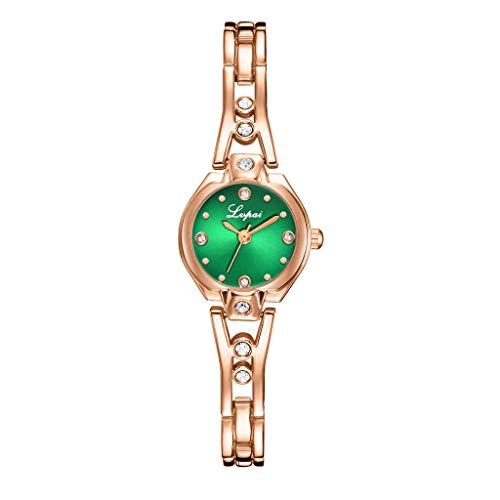 Best Gift For Woman!! Lankccok Fashion Casual Point Diamond Dial With Diamond Strap Ladies Quartz Watch