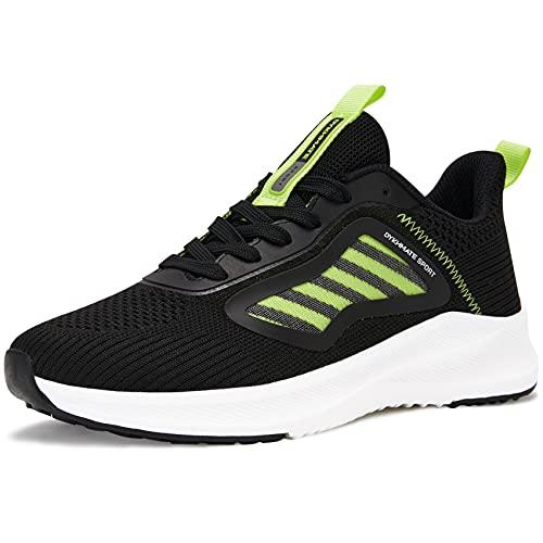 URDAR Zapatillas De Deporte Mujer Running Sneakers Antishock Zapatos de Deportivas CordonesTranspirables Ligeras Zapatillas Casual(Verde,37.5 EU)