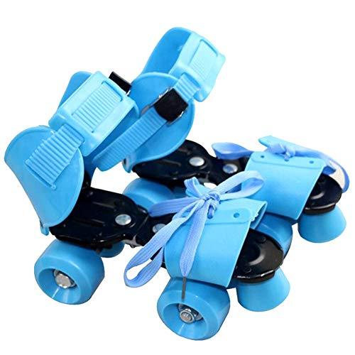Lanceasy Kinderrollschuhe Verstellbare Kinder Rollschuhe zweireihig 4 Räder Skateschuhe Inline-Schlittschuhe für Kinder