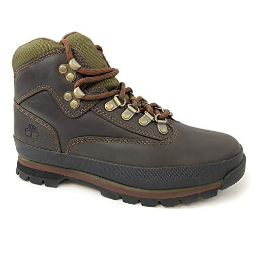 Timberland Womens Euro Hiker Brown Leather Boots (9.5)