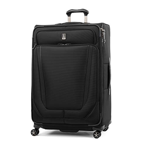 Travelpro Crew Versapack-Softside Expandable Spinner Wheel Luggage, Jet Black, Checked-Large 29-Inch