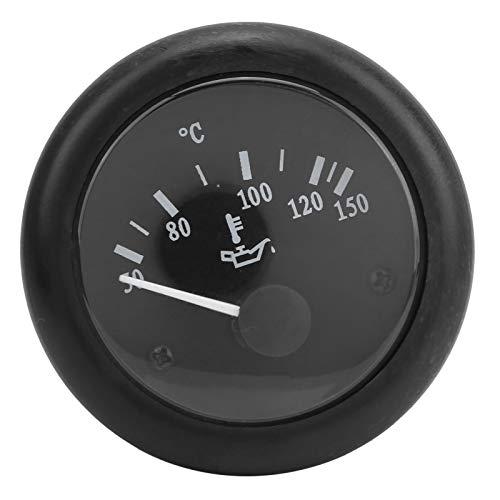Medidor de temperatura del agua, indicador de temperatura del aceite de 52 mm, medidor electromagnético de medición de grados de calor de aceite diésel(DC12V)