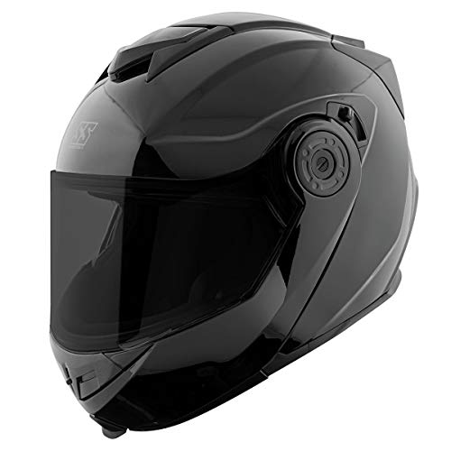 Speed and Strength Mens SS1710 Solid Speed Gloss Black Modular Helmet...