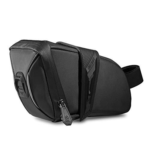 Bolsa para sillín de bicicleta, resistente al agua, bolsa para cuadro de bicicleta, compacta, para bicicletas de montaña, bicicletas y bicicletas de carretera