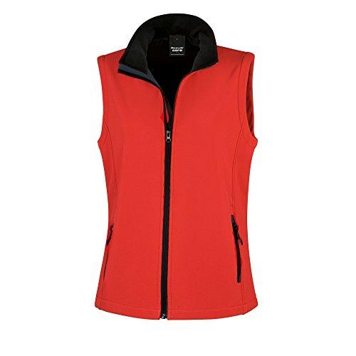 Result Core Damen Softshell-Weste, bedruckbar (XL) (Rot/Schwarz)