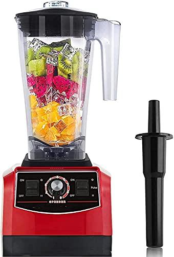 Picador alimentos eléctrico multifuncional, exprimidor frutas verduras, procesador alimentos, licuadora batidos 3 L 2200 W 9 velocidades alta velocidad 45,000 RPM, 6 cuchillas afiladas para hielo/nue
