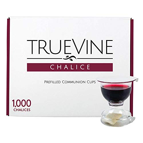 TrueVine Chalice Prefilled Communion Cups and Wafer Set - Prefilled Communion Cups With Bread & Juice - Fresh, Easy-Open Communion for Your Service (100 Chalices)