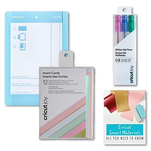 Cricut Joy Machine Card Cutting Mat, Pen Set, Insert Cards, Princess Sampler Bundle