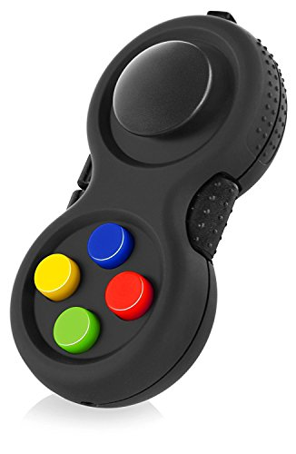 True Tonic Toys The Original Fidget Retro: The Rubberized Classic Controller Game Pad Fidget Focus Toy with 8-Fidget Functions and Lanyard - Perfect for Relieving Stress (Original Version)
