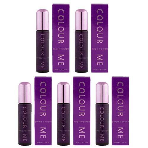 Pack de 5 fragancias para mujer Colour Me Purple Milton Lloyd Perfume Parfum De Toilette 50 Millilitros