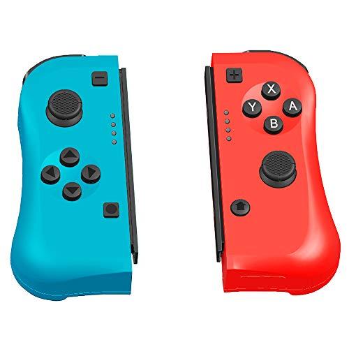 Manette sans fil pour Switch, Maxjaa Ergonomic L / R Mini Nintendo Switch Manette de jeu sans fil Bluetooth Compatible avec l'hôte, prise en charge de la détection de mouvement et double vibration