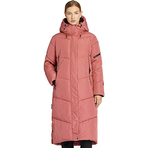 khujo Sonje Damen Mantel Polarmantel Oversized Coat Jacke (Rose, XXL)