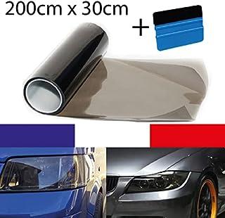 Koplamp kleurfolie licht 30 x 200 cm uittrekbaar + gereedschap voor het aanbrengen