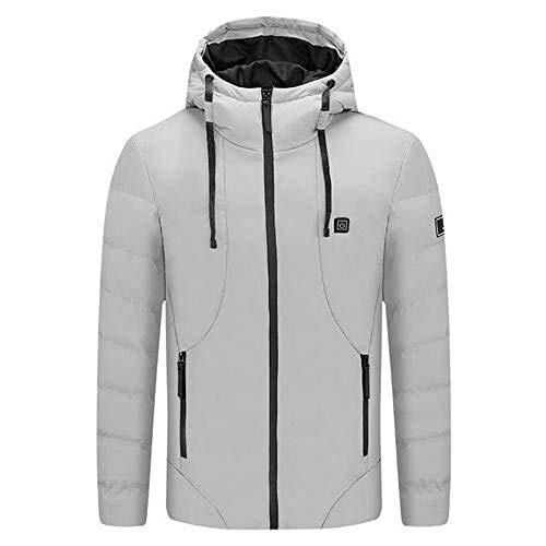HUJIN Chaleco eléctrico con calefacción USB, chaqueta de invierno inteligente, ropa de deporte al aire libre con calefacción (energía móvil no incluida)