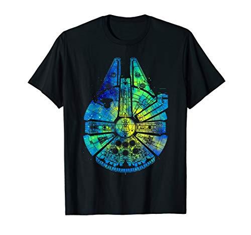 Star Wars Millennium Falcon Water Color Ink Splatter T-Shirt