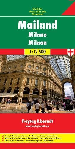 Mailand Gesamtplan: 1:12500: Stadskaart 1:12 500 (freytag & berndt Stadtpläne, Band 141)