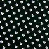 0,5m Stoff Herzen schwarz weiß 100% Baumwolle Meterware