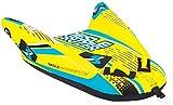 MESLE Tube Cruzer, 1 Personen Speed Towable, Towable-Tube, Fun-Tube, gelb-blau-schwarz, 135cm x 115cm, 420 D Nylon, Quick-Connect-Hacken, Leichter Aufstieg